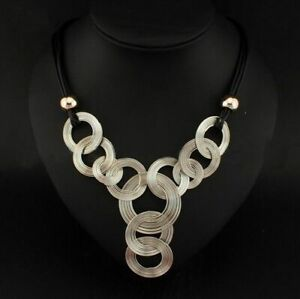 Jewelry-Crystal-Bib-Choker-Chain-Pendant-Chunky-Statement-Necklace-Women-Luxury