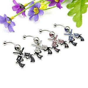 2Pcs-Crystal-Dangle-Barbell-Bar-Button-Navel-Belly-Rings-Body-Piercing-Jewelry