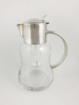 MS05035 MasiniGreggio caraffa in lega argento e vetro con