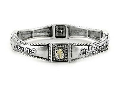 Luke 11:9 Ask & It Will Be Given To You; Seek; Knock Religious Bracelet #211-C
