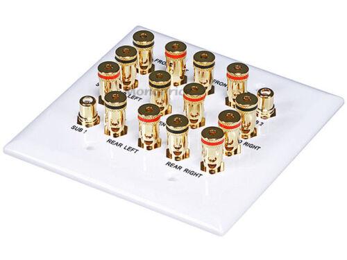 2-Gang 7.2 Surround Sound Distribution Wall Plate 6707