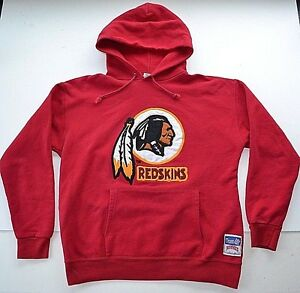 77954b915 Image is loading Vintage-90s-NFL-Washington-REDSKINS-Nutmeg-HOODIE- Sweatshirt-