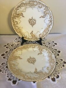 "Two Gold trimmed  9"" plates"