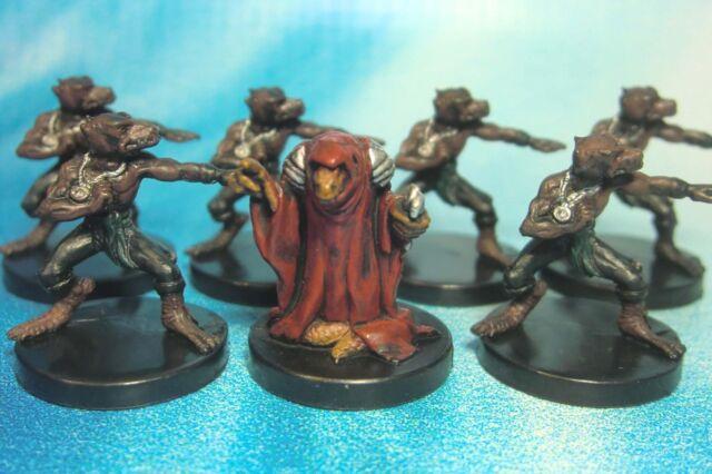 Dungeons & Dragons Miniatures Lot  Kobold Sorcerer Kobold Monk !!  s104