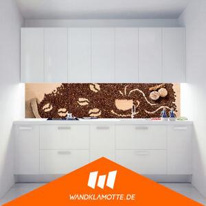k chenr ckwand acryl glas herd spritzschutz coffee art ebay. Black Bedroom Furniture Sets. Home Design Ideas