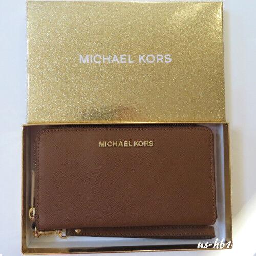 386d37eee4c0e Michael Kors Jet Set Travel Large Flat Multifunction Phone Case Wallet  Luggage for sale online