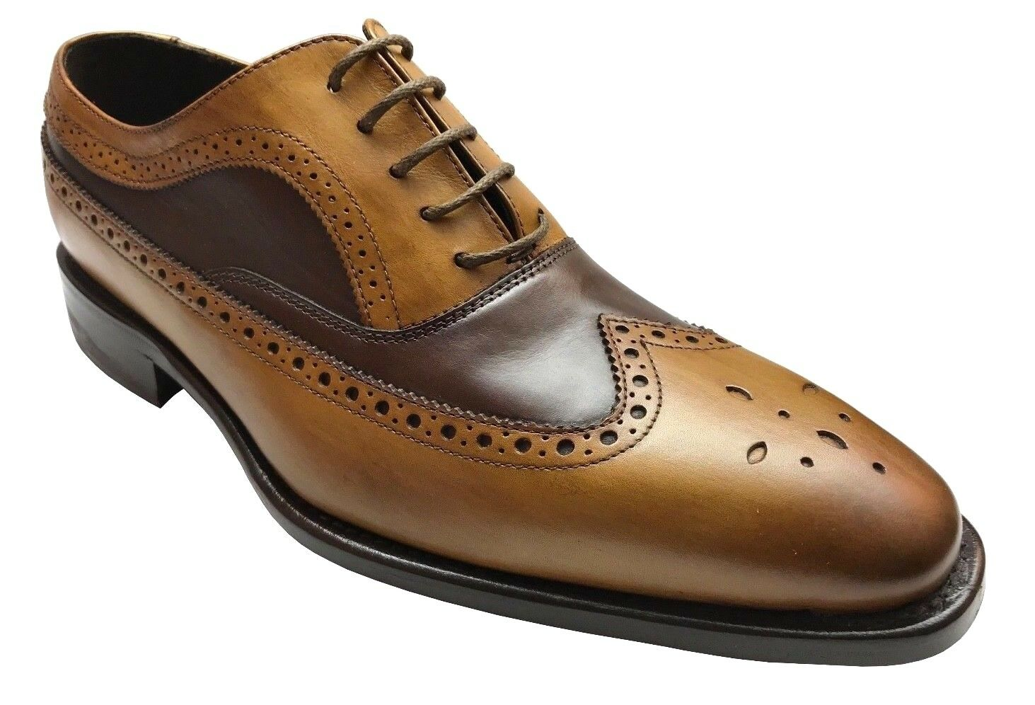 Calzoleria Toscana Men's Oxford Chestnut Brown Leather Hand Crafted shoes H200