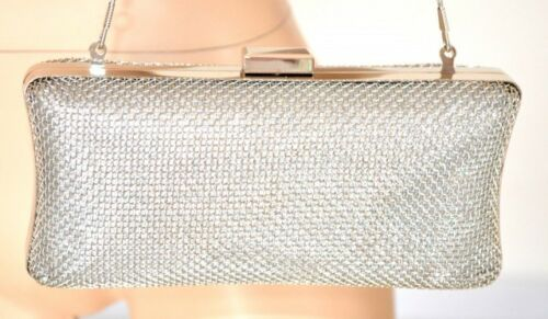 Elegante Donna Bag Argento Cerimonia Rigido Pochette Borsa Borsello 1075 Clutch xUqPYwwBg