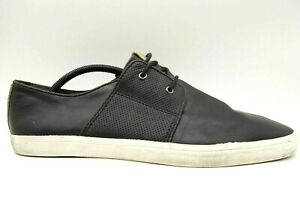 aldo black leather lace up casual oxfords shoes men's 46