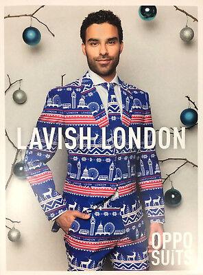 Opposuits Lavish London Noël Suit /& Tie-bleu-Uk 42//EU 52-RRP £ 65 Neuf