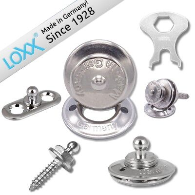 5x Stainless Steel Loxx Canvas Fastener Tarps Convertible Boat Covers Strap Lock