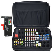 Battery Storage Organizer Tester Carry Case Bag Hold 152 Batteries AA AAA C D 9V