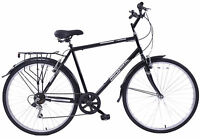 "NEW PROFESSIONAL WOODLAND 22"" FRAME MENS HYBRID BIKE 700C WHEEL 6 SPEED BLACK"