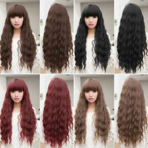 Beauty-Fashion-Womens-Lady-Long-Curly-Wavy-Hair-Full-Wigs-Cosplay-Party