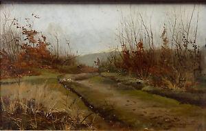 Andre-paul-Leroux-1870-1950-Oil-Panel-Landscape-the-Harve-Fecamp-Normandy