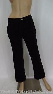 Cabi-138-Black-Cotton-Soft-Velvet-Pants-Size-2