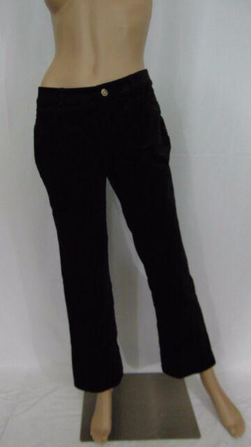 Cabi #138 Black Cotton Soft Velvet Pants Size 2