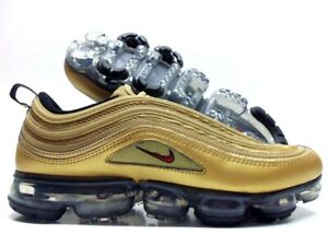 new product 085c8 358b6 Details about NIKE AIR VAPORMAX '97 METALLIC GOLD/VARSITY RED SIZE MEN'S 10  [AJ7291-700]
