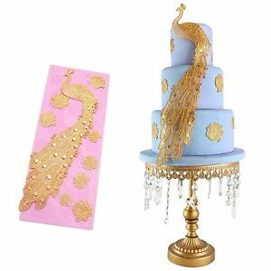 Wedding Cake Decoration Molds : 3D Peacock Silicone Lace Fondant Mold Wedding Cake ...