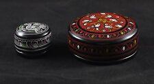 Coppia di portagioie in Lacca Birmana - Couple Boîte à bijoux en laque birmane