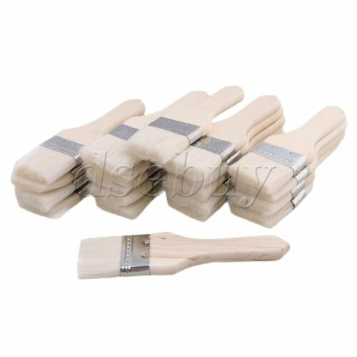 """20x1.8/"""" White Wood Chip Bristles Brush Wall Painting Brushes for Painter"""