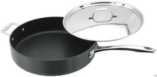 Stellar 6000 Hard Anodised Non-Stick 30cm Saute Deep Frying Pan With Lid S628
