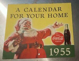 "Vintage RARE Coca Cola 1955 ""A Calendar  For Your  Home"""