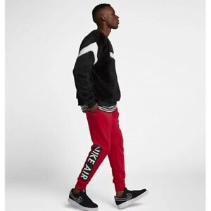 detailed pictures release date: top design Details zu Nike Air Fleece Pant Jogger Red White Black Hose Anzug Rot  928637-687 Herren