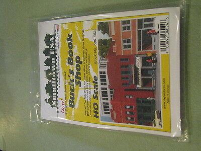 "Smalltown USA HO #699-6024 Buck's Book Shop -- Kit - 4-3/4 x 2-3/4"" 11.9 x 6.9cm"