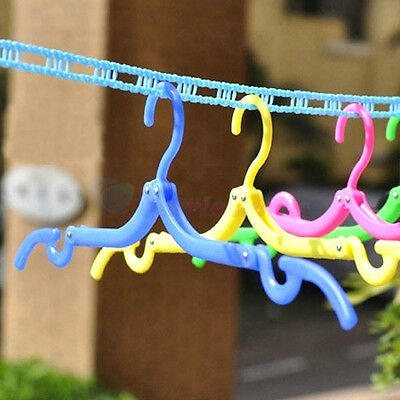 Magic Portable Folding Plastic Clothing Coat Hanger Drying Rack Hook for travel