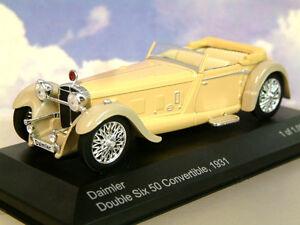 SUPERBO-WhiteBox-PRESSOFUSO-1-43-1931-DAIMLER-DOUBLE-SIX-50-convertibile-Beige