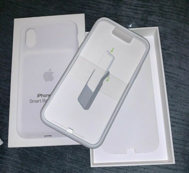 Apple Smart Battery Case for iPhone Xs White MRXL2LL/A Model A2070 Open Box