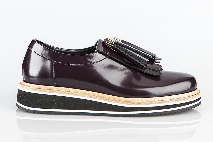 Scarpe casual da uomo  Authentic Baldinini Leather Italian Designer Shoes New Collection Bordo