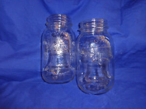 d8c23bb5b8b 2 Vtg 1976 Anchor Hocking Bi-Centennial Mason Qt Glass Canning Fruit ...