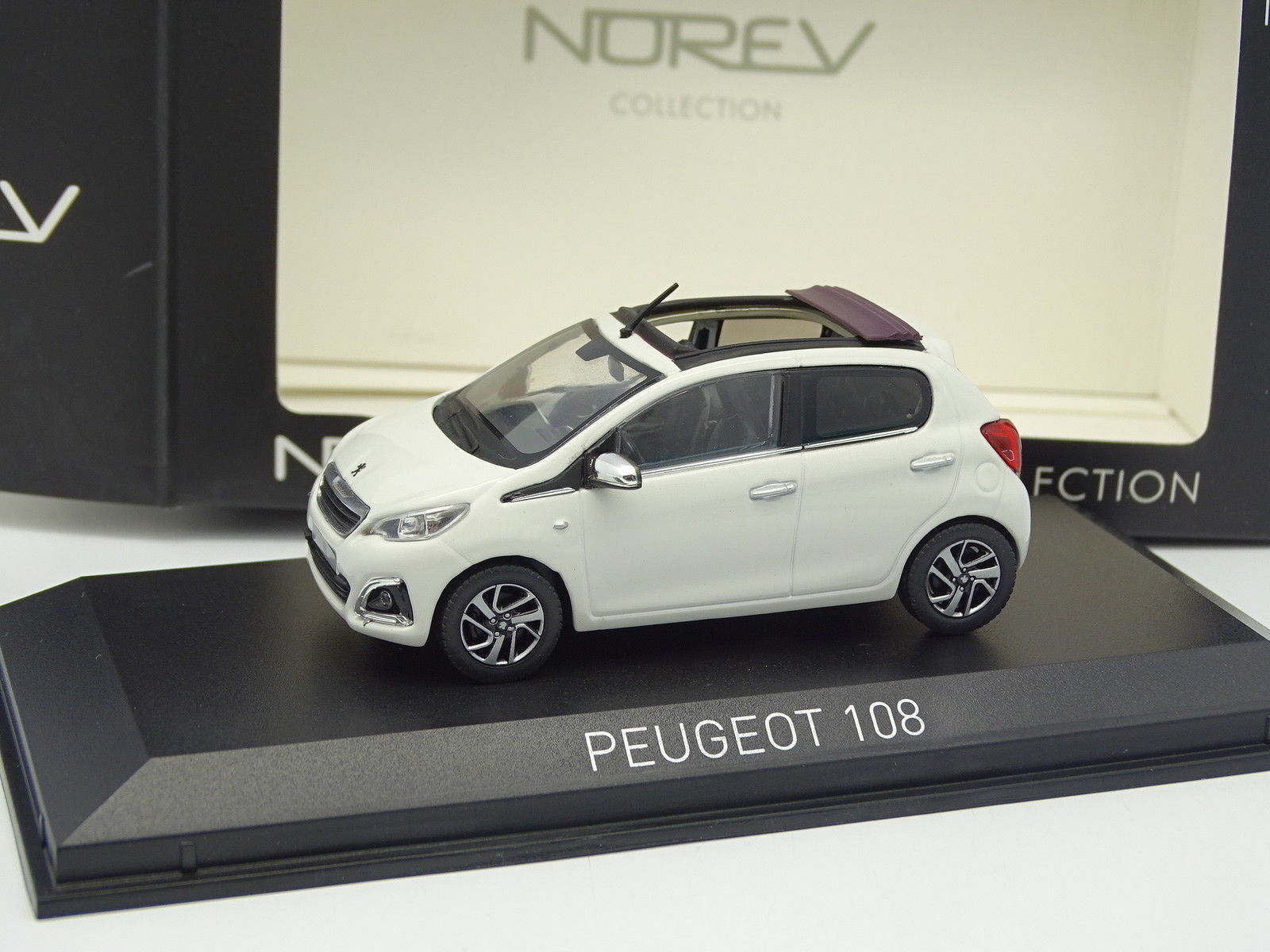 Norev 1 43 - Peugeot 108 Blanche