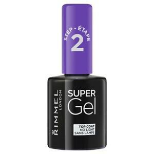 Rimmel Super Gel Nail Polish 001 Top Coat High Gloss Finish Protect Nails