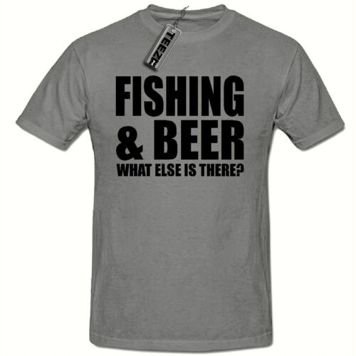 Father Dad Gift Fishing /& Beer Funny Novelty Mens T shirt