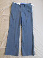 Women's Gap Curvy Stretch Gray Dress Pants W/white Pinstripe Sizes 1 2 6 10