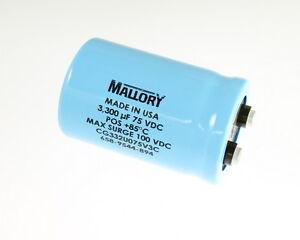 2x-3300uF-75V-Large-Can-Electrolytic-Aluminum-Capacitor-mfd-DC-85C-100V-Surge