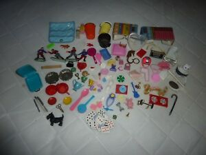 Mixed-lot-Doll-039-s-extras-amp-miniature-Doll-House-Dollhouse-Accessories-N8-24