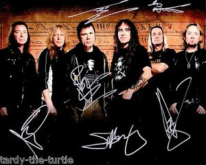 Iron Maiden 2 8 X 10 Autograph Reprint Bruce Dickinson