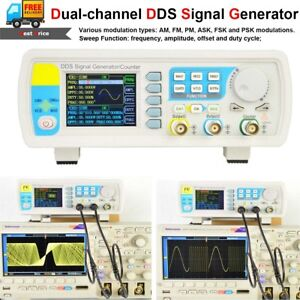 60MHz-DDS-Function-Signal-Generator-Dual-Channel-Arbitrary-Waveform-Pulse-Meter