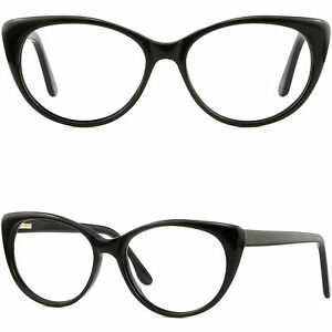 207d11d5548 Details about Large Wide Women s Plastic Frame Cute Stylish Cat Eye  Prescription Glasses Black