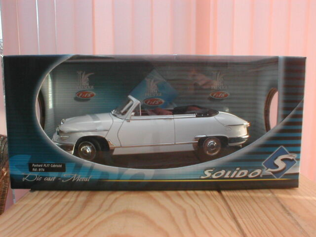 SOLIDO 1/18 METAL PANHARD PL17 1961 CABRIOLET BLANCHE Ref 8174