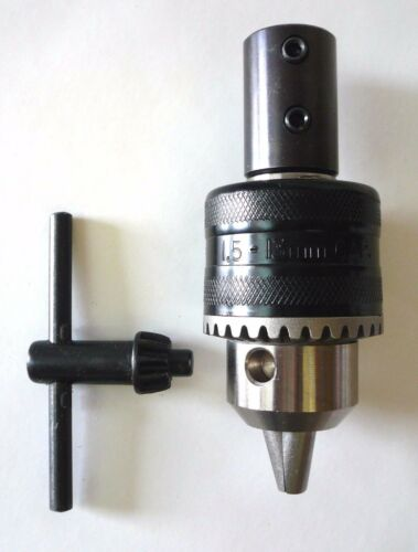 """1//2/"""" Jacobs Keyed Drill Chuck On 1//2/"""" Spindle Adapter fits 1//2/"""" Motor Shaft New"""