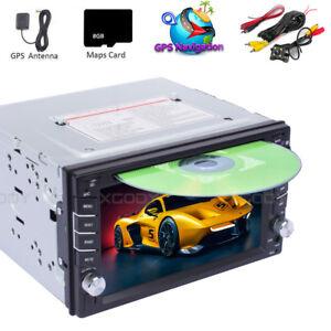 6-2-034-Double-2-Din-In-Dash-Car-CD-DVD-Player-Radio-Stereo-GPS-SAT-NAV-Rear-Camera