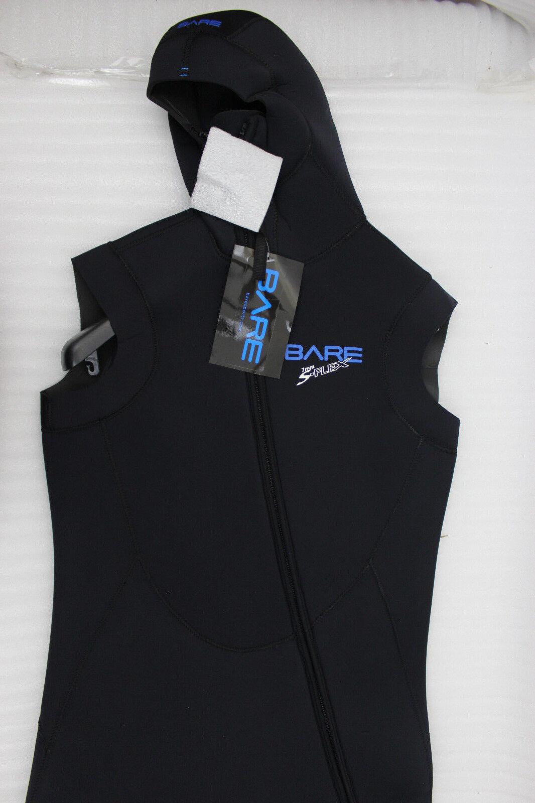 Bare S Flex Full 7mm Diving Vest Step-In Hooded Vest zwart One XL nieuwe A
