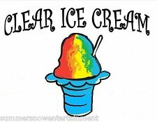 CLEAR ICE CREAM SYRUP MIX SHAVED ICE / SNOW CONE Flavor GALLON CONCENTRATE #1