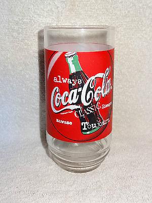 Always Coca-Cola Classic Coke Glass 1997 English /& French Refreshing