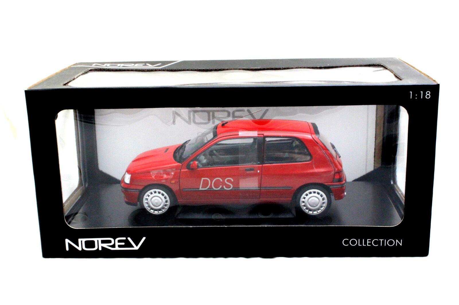 NOREV 1991 RENAULT CLIO 16S  rouge 1 18 DIECAST voiture  protection après-vente